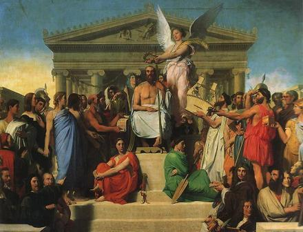 Apotheosis of Homer - Jean-Auguste-Dominique Ingres